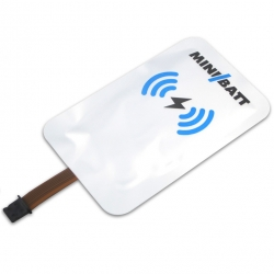 MiniBatt Qi Flexible Card Lightning iPhone receiver