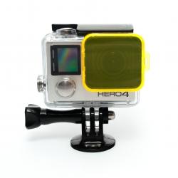 Yellow filter for GoPro HERO4 Standard housing
