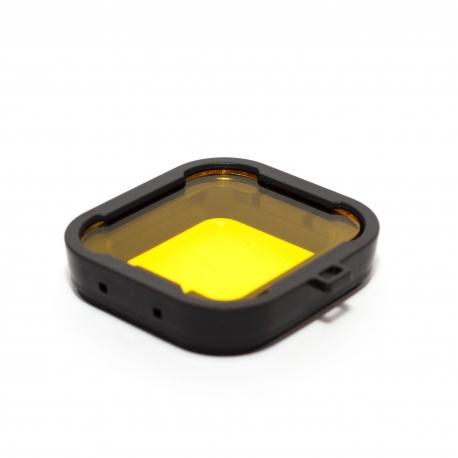 Желтый подводный фильтр для GoPro HERO4 (крупный план)