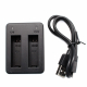2 batteries USB charger for GoPro HERO4