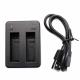 USB зарядний пристрій для 2х акумуляторів GoPro HERO4