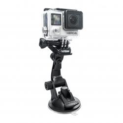 Крепление присоска на стекло для GoPro (надета HERO4)