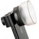Профессиональная 24 мм макролинза для смартфона , вид сбоку на смартфоне
