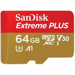 Карта памяти SanDisk Extreme PLUS 64GB MicroSDXC UHS-I U3 633x