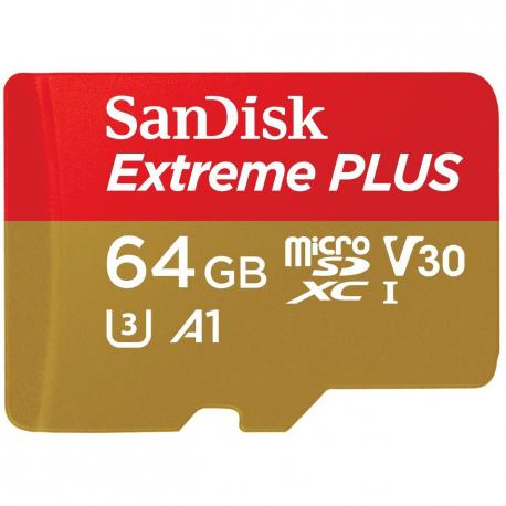 Карта памяти SanDisk Extreme PLUS 64GB MicroSDXC UHS-I U3 633x, главный вид