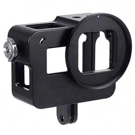 Алюминиевый корпус с дверцами для GoPro HERO5 и HERO6, черный