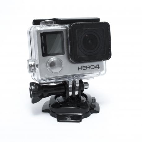 Крепление на шлем поворотное 360° (прикреплена GoPro HERO4)