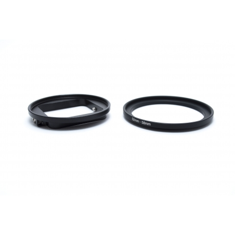 52 mm adapter for GoPro HERO 4 and 3+ plus 58 mm step up ring