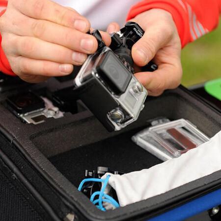 отделения для экшн камер в кейсе