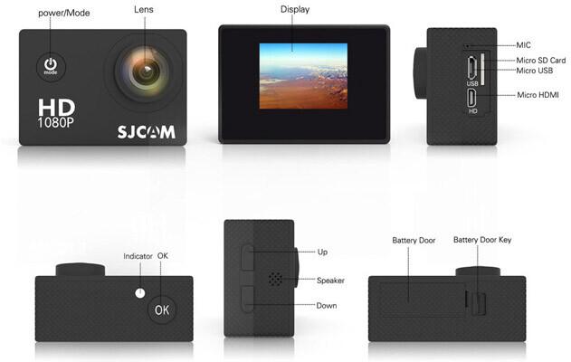 описание экшн камеры sjcam 4000