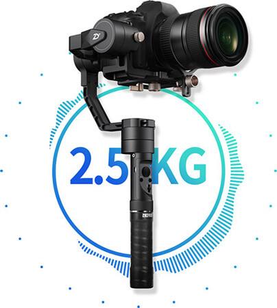 Максимальная нагрузка Crane Plus - 2.5кг