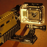 Gun rail side mount for GoPro