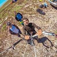Крепление GoPro на стропы кайта CAMRIG