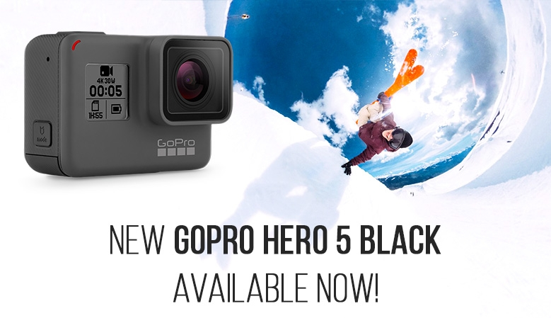 NEW GOPRO HERO 5 BLACK Available Now!
