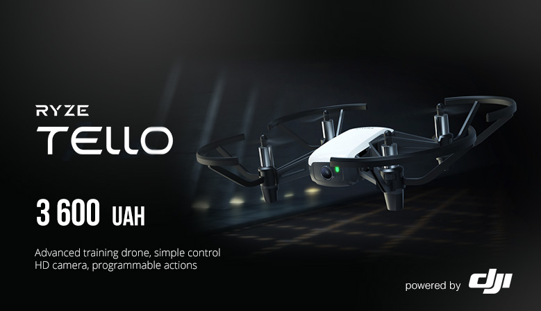 Ryze Tello - advanced training drone, simple control HD camera, programmable actions