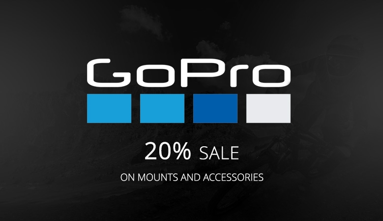 20% Sale on GoPro accessories