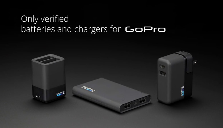 Only verified batteries and chargers for GoPro